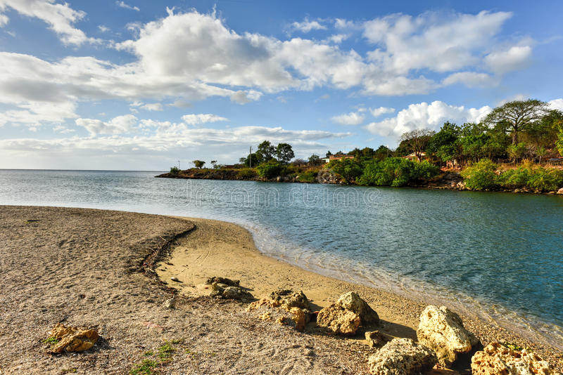 La Boca, Cuba. La Boca resort area in the in the Sanctus Spiritus Region of Cuba stock photo