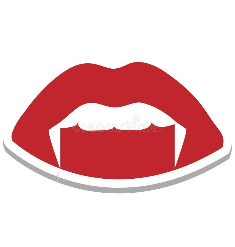 la boca del demonio, color de la boca del demonio de Halloween aisló el icono del vector que puede estar fácilmente corrige o se  libre illustration
