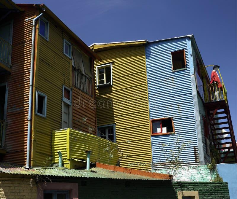 La Boca district of Buenos Aires - Argentina. Colorful buildings in the La Boca district of Buenos Aires in Argentina stock photos