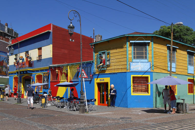 La Boca district in Buenos Aires royalty free stock photo