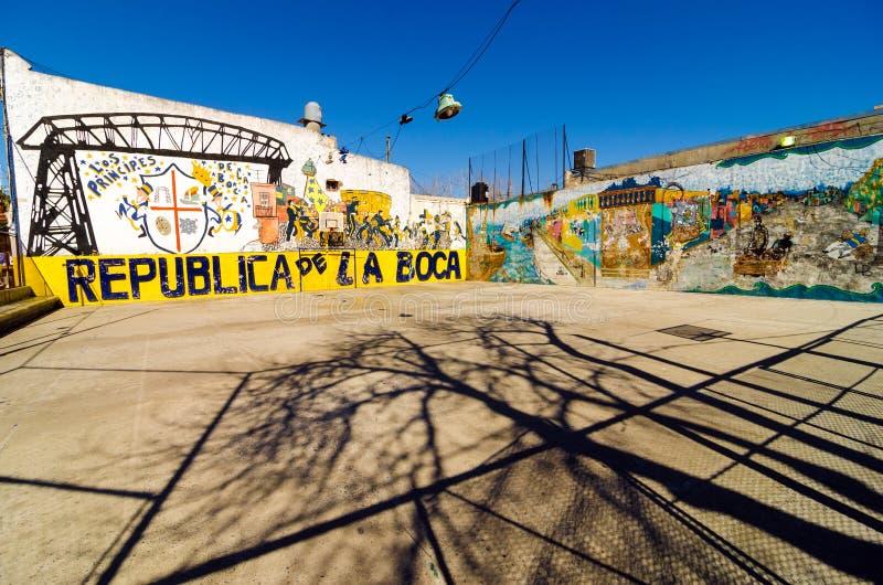 La Boca Graffiti royalty-vrije stock afbeelding