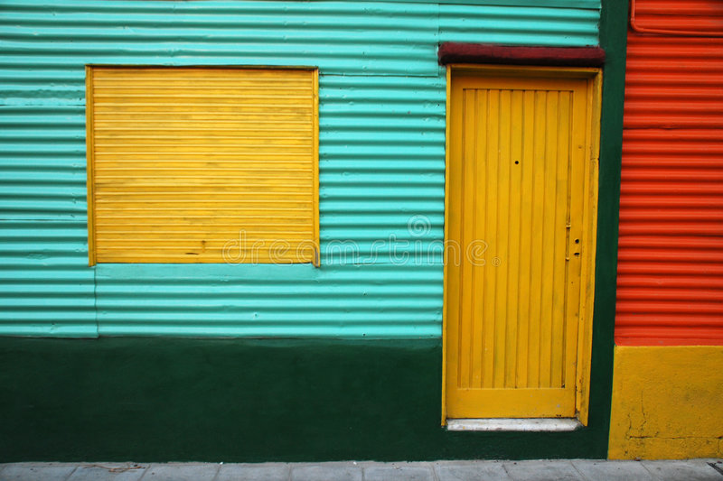 La Boca Home. Typical and picturesque home in La Boca neighborhood. Buenos Aires, Argentina stock images
