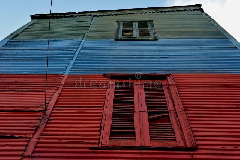 La Boca. A house of La Boca in Buenos Aires royalty free stock photos
