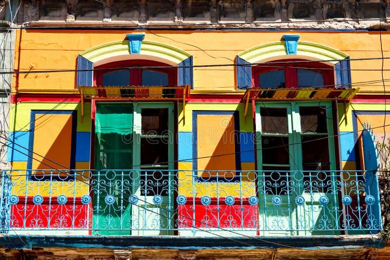 La Boca, kleurrijke buurt, Buenos aires Argentinië royalty-vrije stock afbeelding