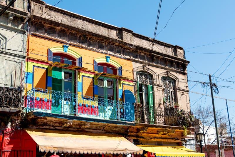 La Boca, kleurrijke buurt, Buenos aires Argentinië stock afbeeldingen