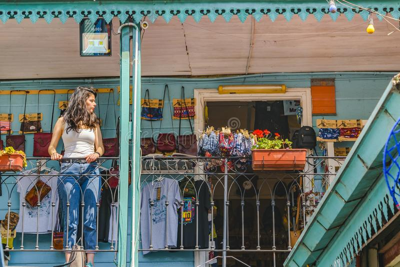 La Boca Neighborhood, Argentina. BUENOS AIRES, ARGENTINA, SEPTEMBER - 2018 - Exterior view of traditional constructions at famous la boca neighborhood, Buenos stock images