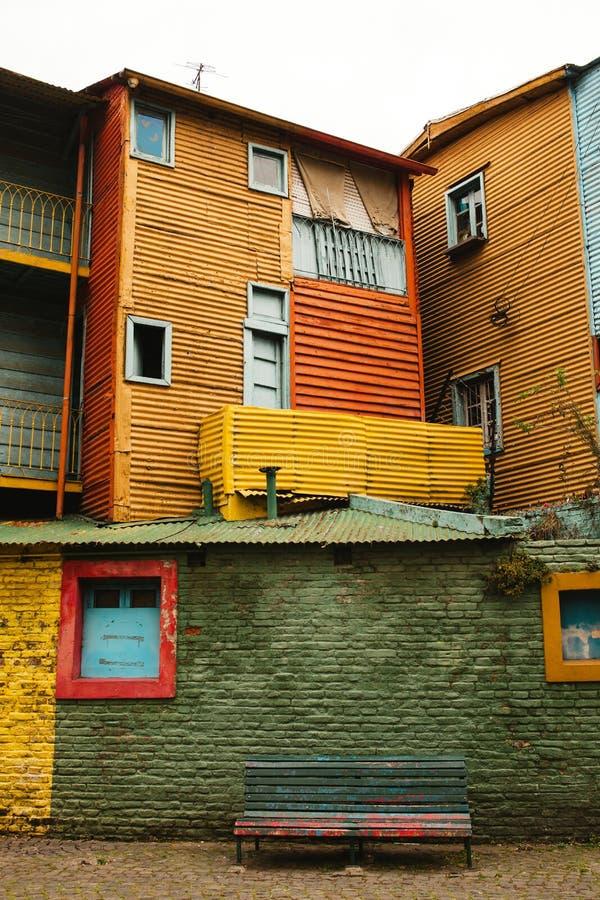 La Boca neighborhood of Buenos Aires Argentina. Barrio de la boca, el caminito royalty free stock photos