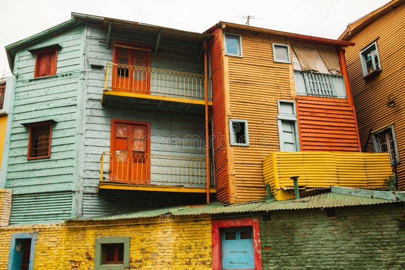 La Boca neighborhood of Buenos Aires Argentina. Barrio de la boca, el caminito stock image