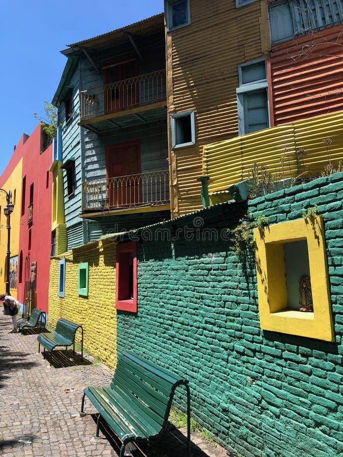 La Boca Neighborhood i Buenos Aires - Argentina - Sydamerika arkivbild