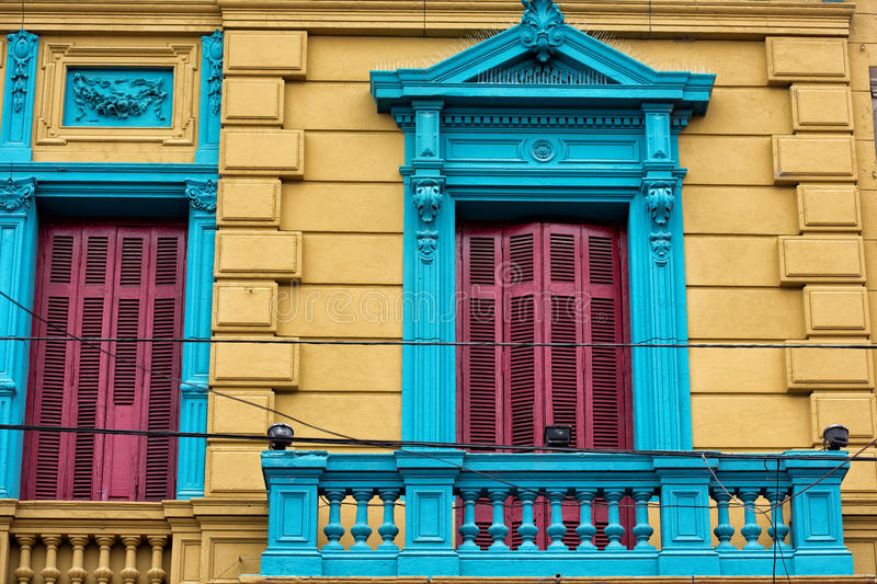 La boca painted house in Buenos Aires stock photos