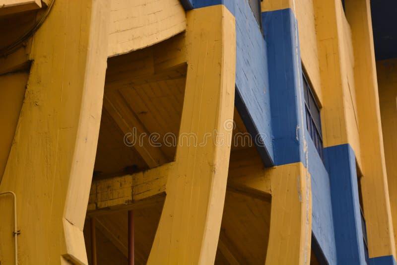 La Boca Stadium. Cloe up exterior view of La Boca Stadium in Buenos Aires stock photo
