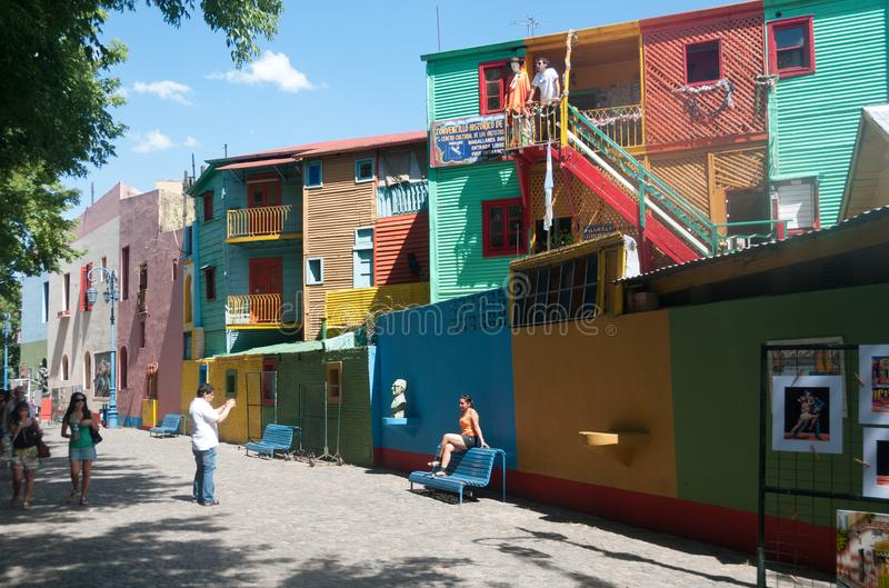 La boca Street scene royalty free stock photography