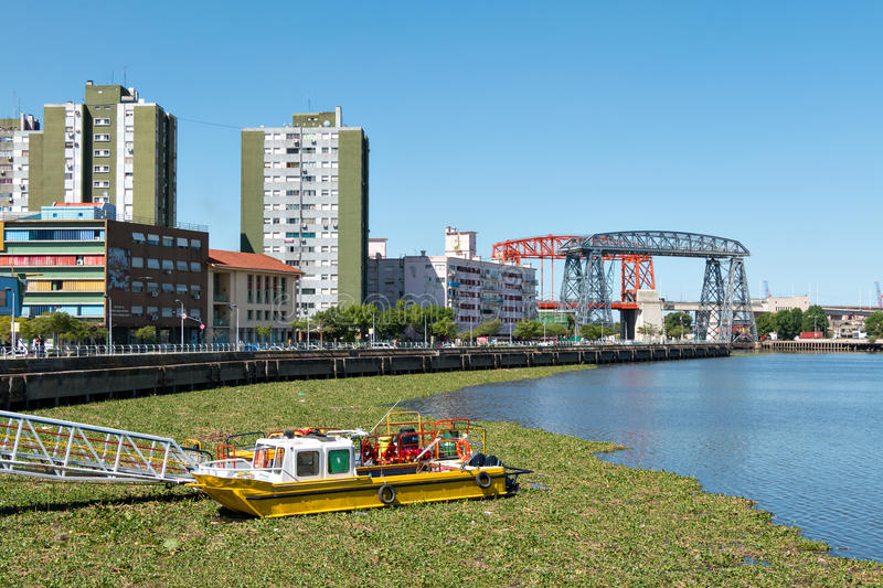 La Boca, viev over the river, Buenos Aires Argentine. View over the river in the neighborhood La Boca, Buenos Aires Argentine royalty free stock photo