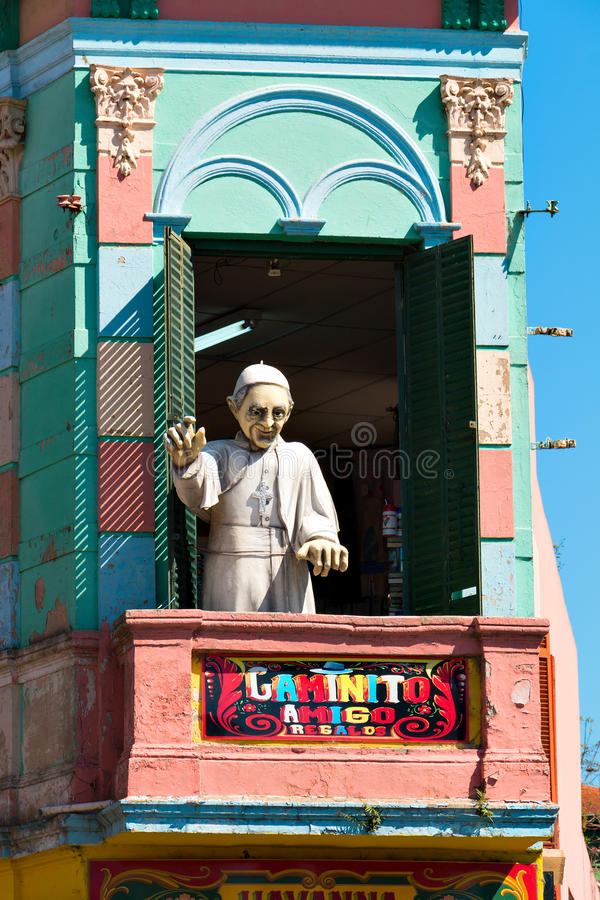 La Boca, vizinhança colorida, Buenos Aires Argentina fotos de stock