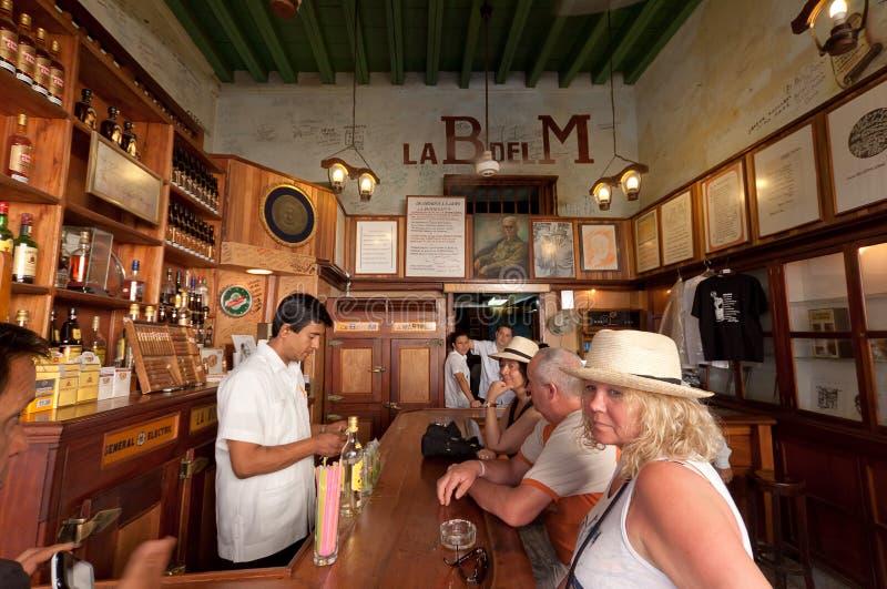 La Bodeguita del Medio a Avana. fotografia stock libera da diritti