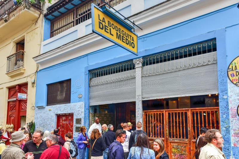 La Bodeguita del Medio - Avana, Cuba fotografia stock