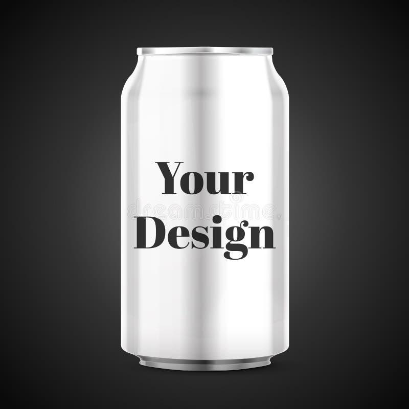 La boisson en aluminium de boisson en métal peut illustration stock