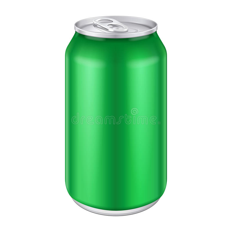 La boisson en aluminium de boisson en métal vert peut 500ml illustration libre de droits