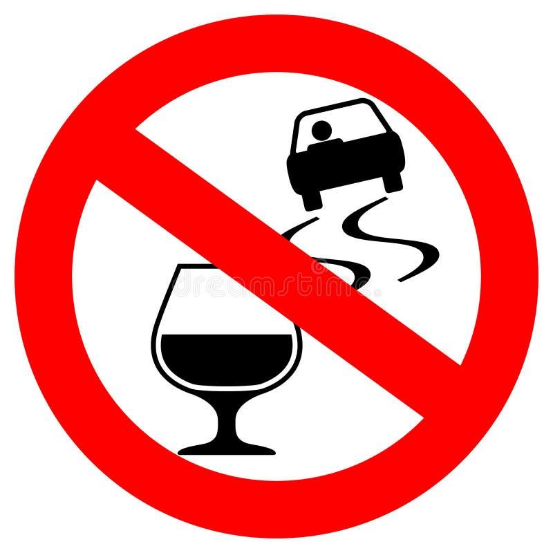 La boisson et la commande du ` t de Don dirigent le signe illustration libre de droits
