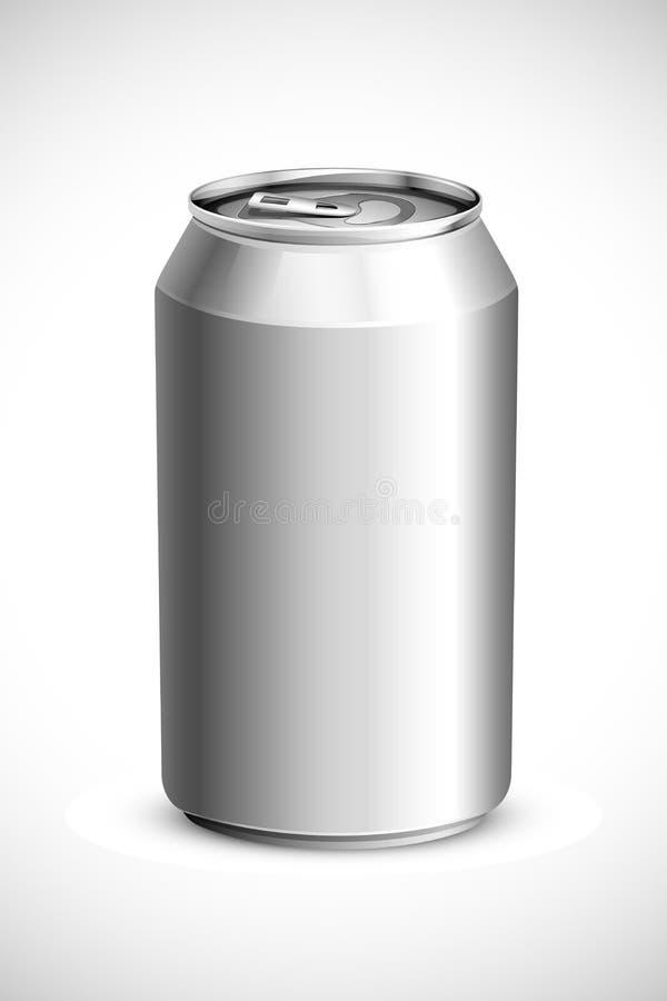 La boisson vide peut illustration stock
