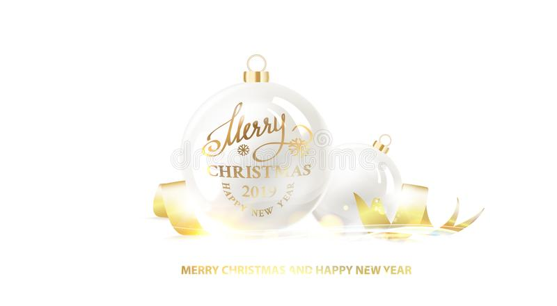 La bola de la Navidad stock de ilustración