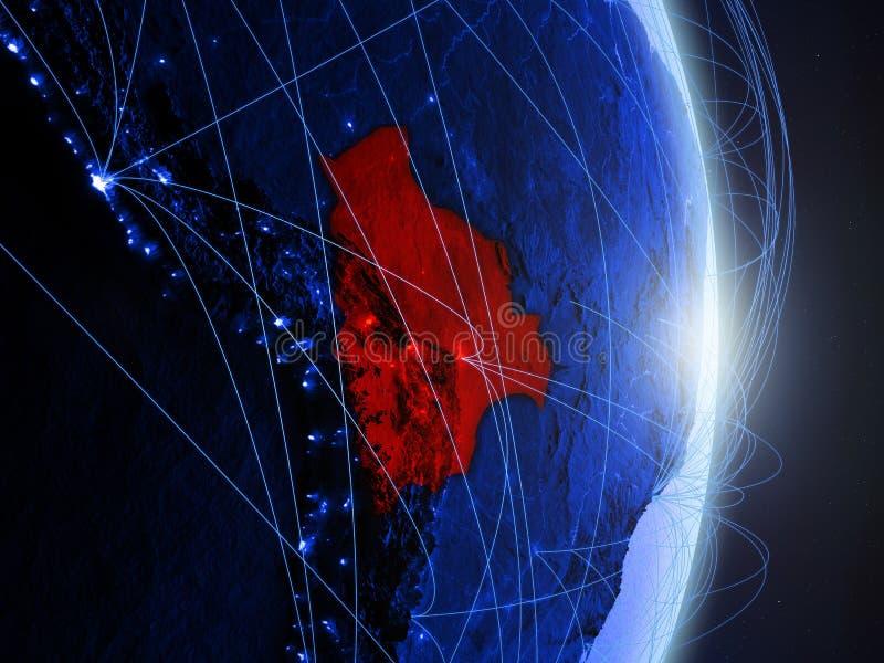 La Bolivie sur la terre numérique bleue bleue photographie stock