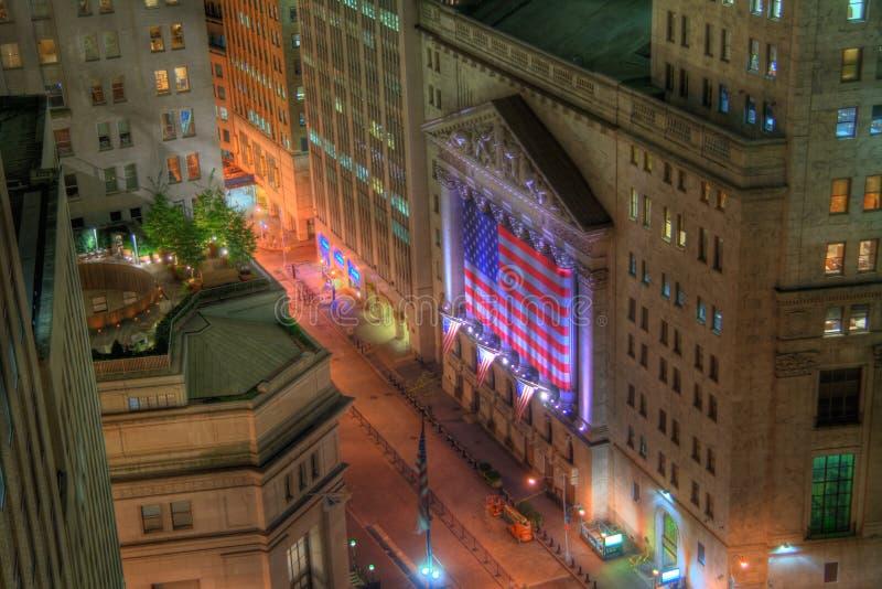 La Bolsa de Nuevo York fotografía de archivo libre de regalías