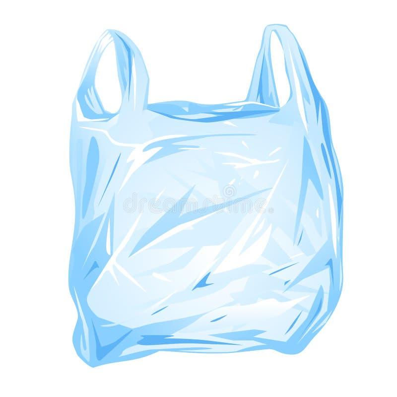 La bolsa de plástico aislada stock de ilustración
