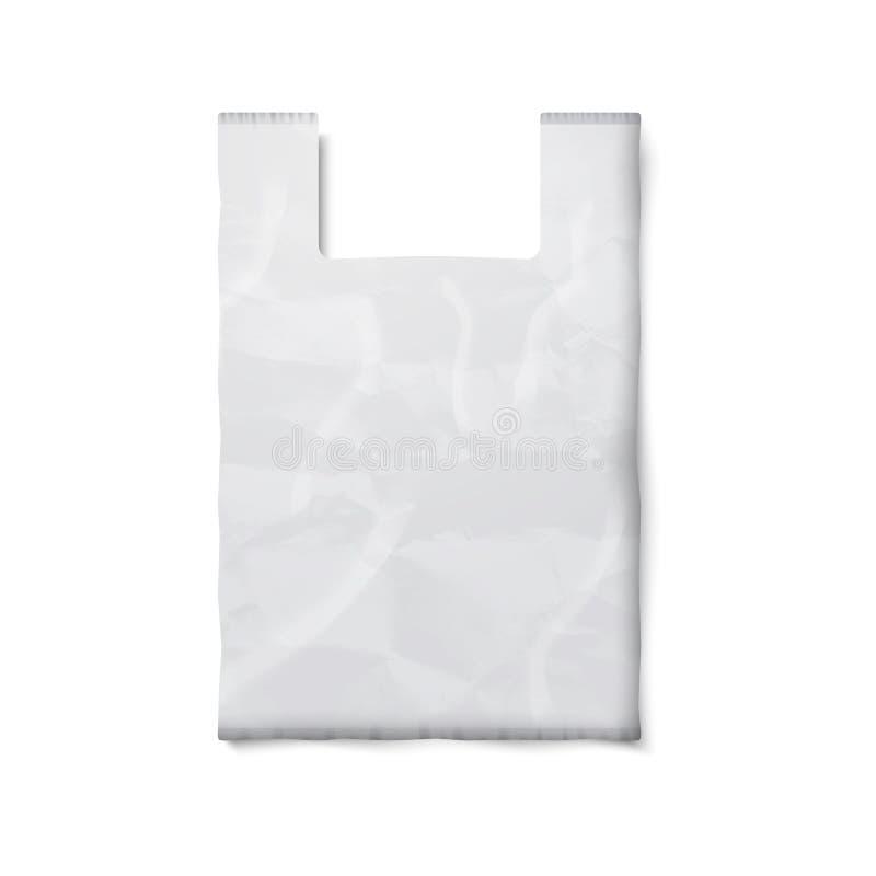 La Bolsa De Plástico En Blanco Con El Lugar Para Su Diseño Y ...