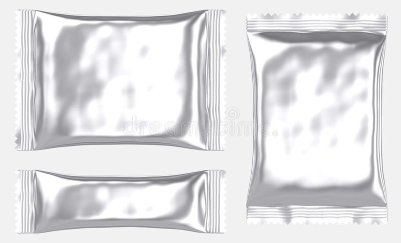 La bolsa de plástico en blanco rectangular de la bolsa de la hoja libre illustration