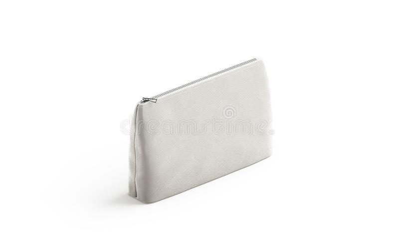 La bolsa en blanco de la lona para los cosméticos imita para arriba, aislado libre illustration