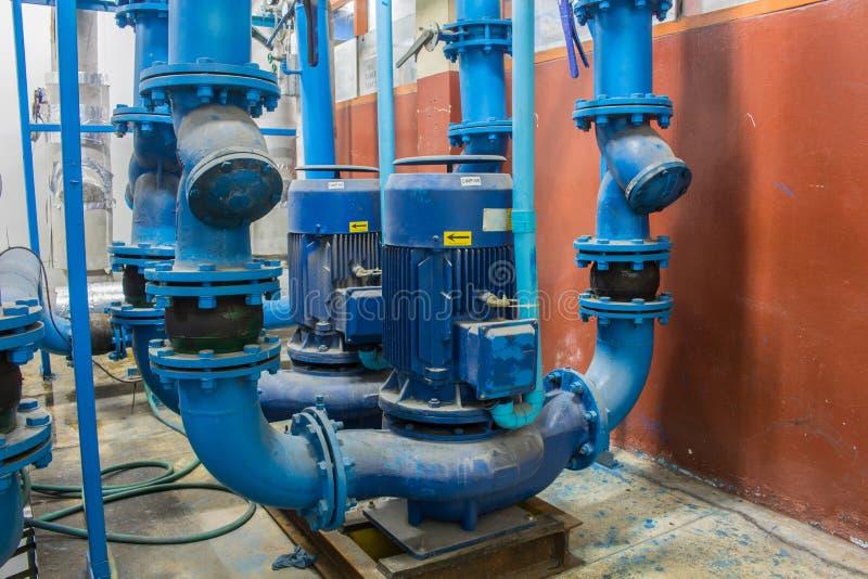 La bomba de agua eléctrica para el sistema de la condición del aire imagenes de archivo