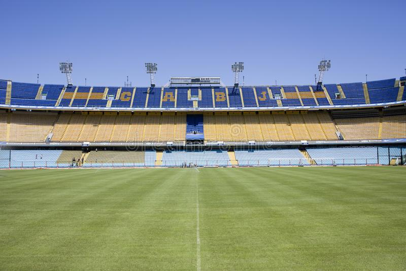 La Bombonera stadium of Boca Juniors in Argentina. Detail from La bombonera stadium in Buenos aires, Argentina. It is Boca Juniors owned stadium and was built at royalty free stock photography