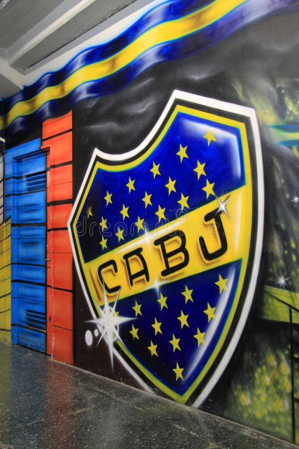 La Bombonera Stadium in La Boca. La Bombonera stadium hosts the world renowned Boca Juniors soccer team and represents the heart of La Boca in Buenos Aires April stock images