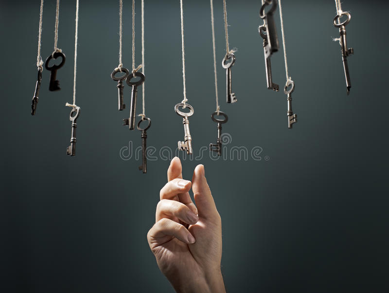 La bonne clé images libres de droits