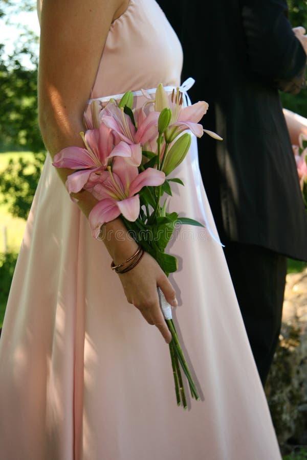 La bonne de la mariée photographie stock libre de droits