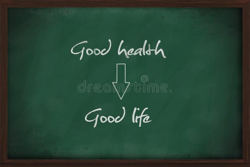La bonne santé mène à la bonne vie photo libre de droits