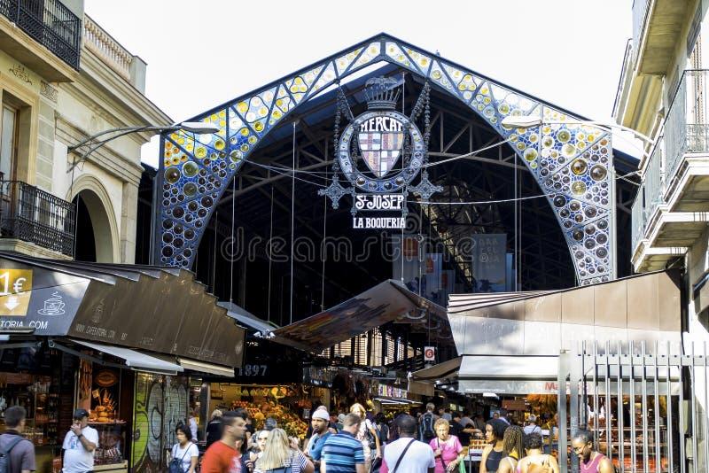 La BoquerÃa-Markt, Barcelona Spanien lizenzfreie stockfotografie