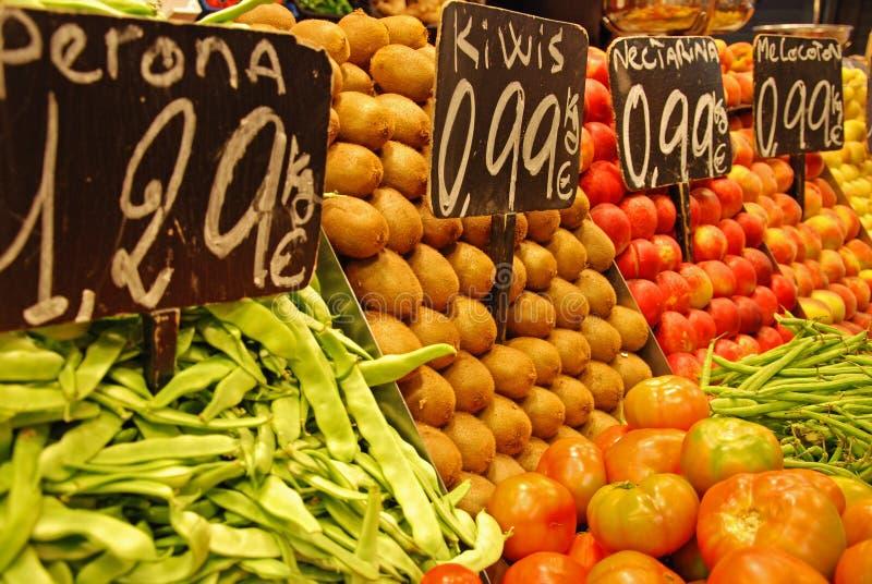 La Boqueria,市场在巴塞罗那 库存图片