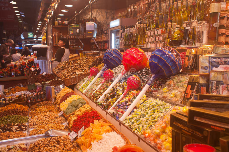 La Boqueria in Barcelona royalty free stock photography