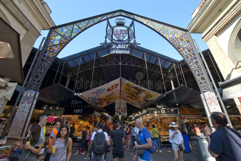 La Boqueria, Barcelona, España imagen de archivo libre de regalías