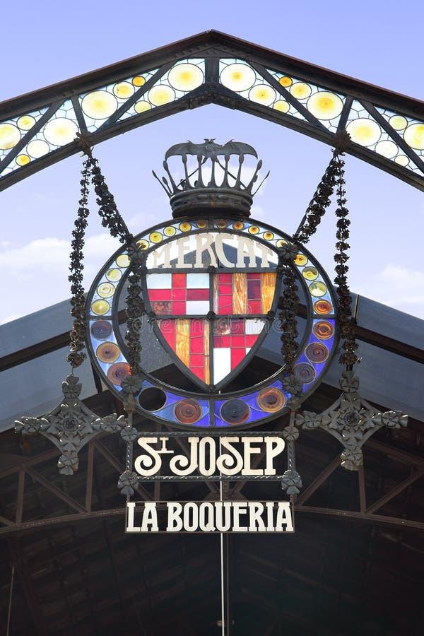 Download La Boqueria Market editorial photo. Image of saint, sign - 21512326