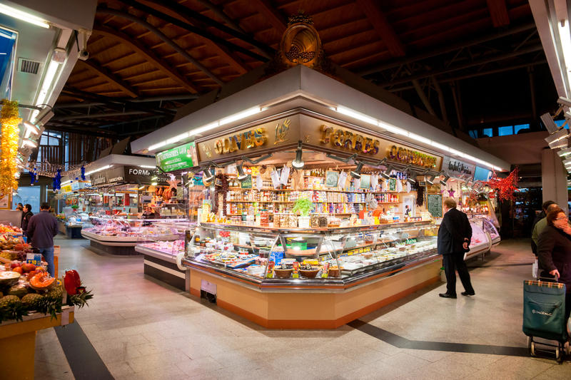 La boqueria market, Barcelona, Spain. stock images