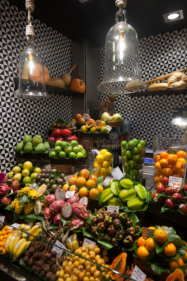Download La Boqueria Market In Barcelona - Spain Editorial Image - Image of europe, nutrition: 24743695