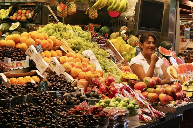 La Boqueria Market, Barcelona Spain royalty free stock photo