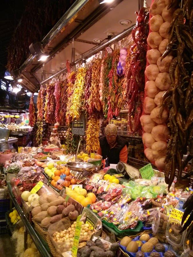 La Boqueria Markt, Barcelona, Spanien lizenzfreie stockbilder