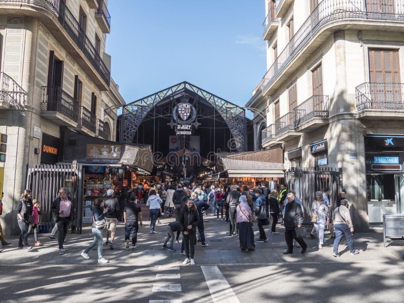 La Boqueria, matmarknad av Barcelona arkivbild