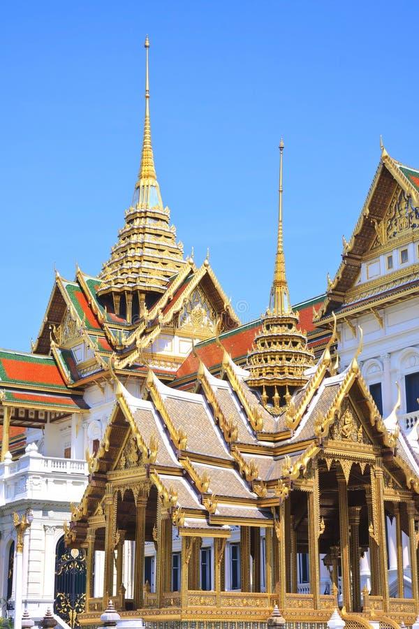 La borne limite célèbre de Bangkok. Le palais grand images stock