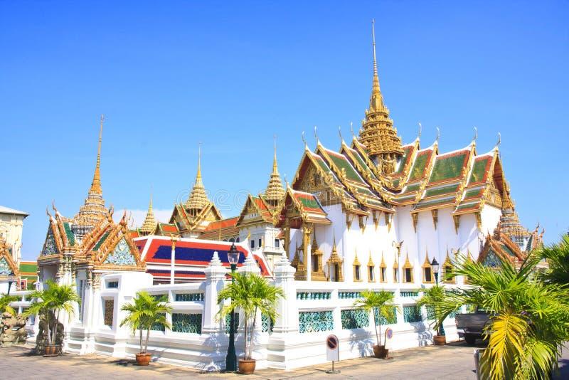La borne limite célèbre de Bangkok. Le palais grand images libres de droits