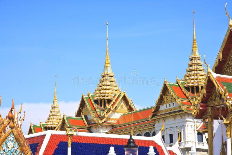 La borne limite célèbre de Bangkok. Le palais grand photo stock